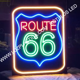 Rótulos neón led-cristal Rotulo ROUTE 66   REF 2063 LED