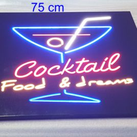 Rótulos neón led-cristal COCKTAIL FOOD & DREANS ROTULO LED REF 2066LED